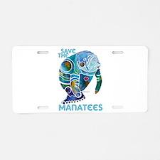 Save the Manatees Aluminum License Plate
