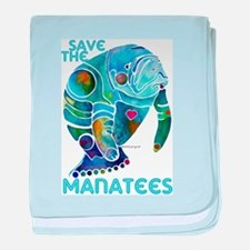 Save the Manatees baby blanket
