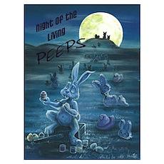Zombie Peeps Poster