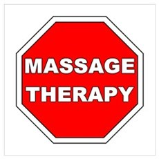 Stop Massage Sign Poster