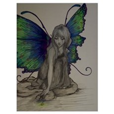 Fairy in Color (Dark) Poster