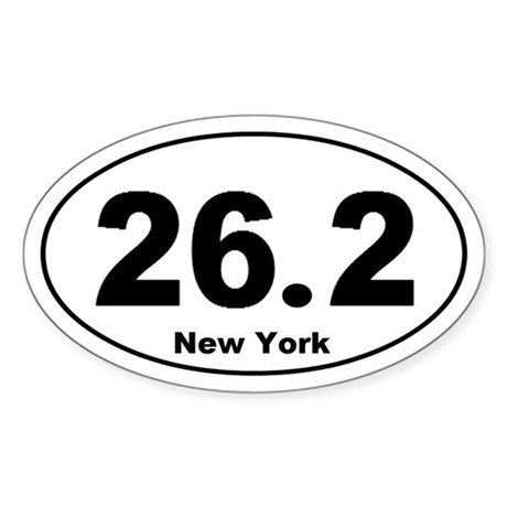 26.2 New York Sticker (Oval)
