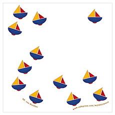 Cute Little Sailboats Poster