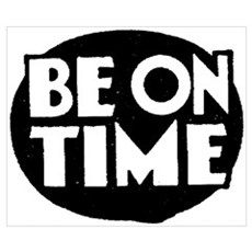 Retro Be On Time Poster