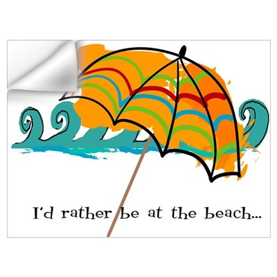 I'd rather be at the beach Wall Decal