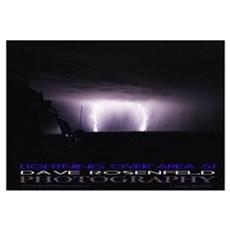 Area 51 Lightning Framed Print