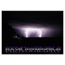 Area 51 Lightning Poster
