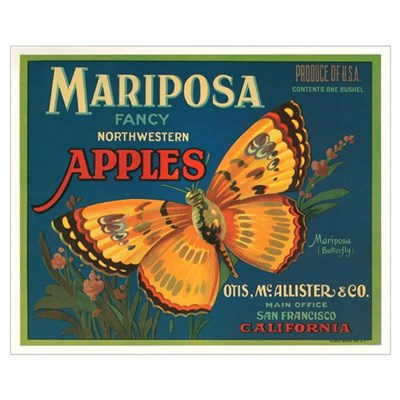 Mariposa Apples Crate Label Canvas Art