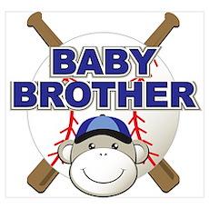 Baby Brother Baseball Poster