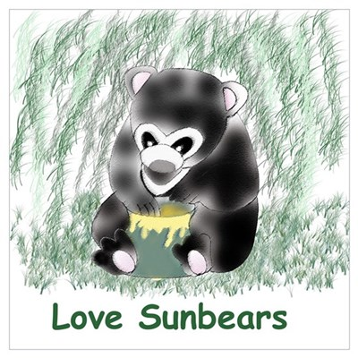 sunbear cub Poster