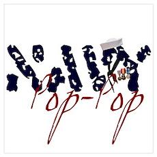 Navy Pop-Pop Poster
