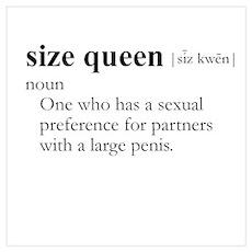 SIZE QUEEN / Gay Slang Poster