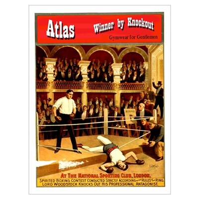 Atlas: Winner by Knockout T Shirts & Apparel Mini Framed Print