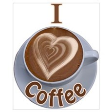 I Heart Coffee Framed Print