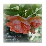 Beautiful Moments Roses Tile Coaster