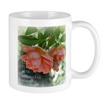 Beautiful Moments Peach Roses Mug