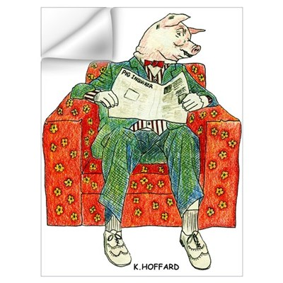 Pig Inquirer Wall Decal