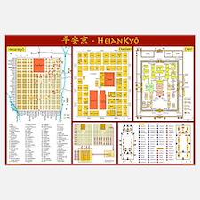 Large Heian-kyô map (English)