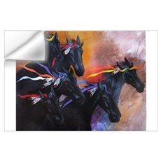 Black Running War Horses - Horse Lover's Prize! Wall Decal