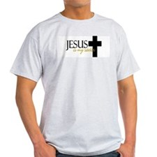 Jesus is my Savior II Ash Grey T-Shirt