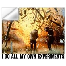 I DO ALL MY OWN EXPERIMENTS 2 Wall Decal