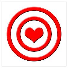 Heart Target Poster