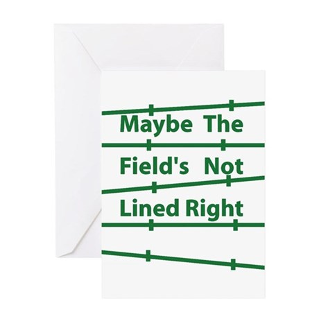 Field Lined - reboot Greeting Card