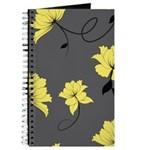 Yellow Floral Journal