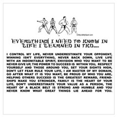 everything I need to know in life-TKD Poster