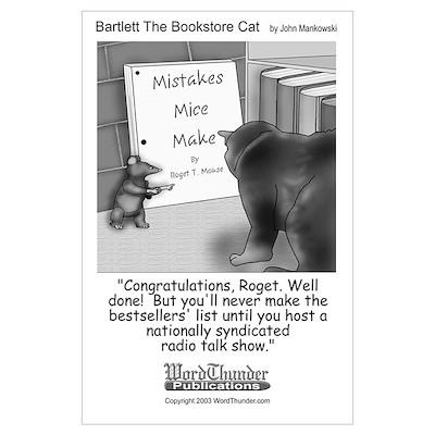 Bartlett The Bookstore Cat Poster