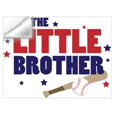 little brother baseball Wall Decal