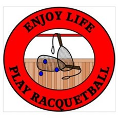 Enjoy Life Play Racquetball Framed Print