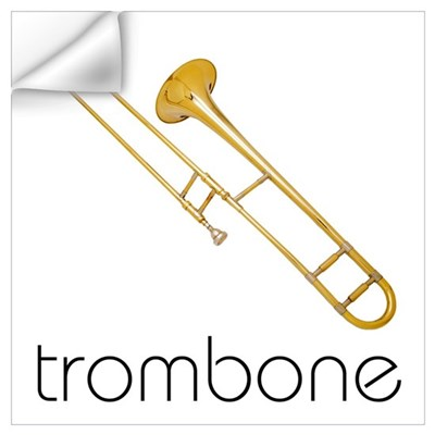 Trombone Wall Decal