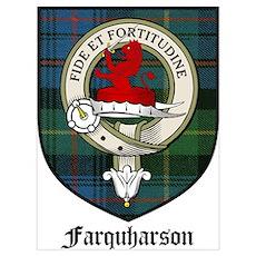 Farquharson Clan Crest Tartan Poster