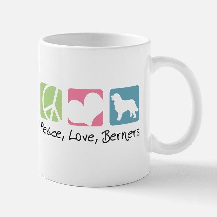 Peace, Love, Berners Mug