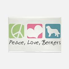 Peace, Love, Berners Rectangle Magnet