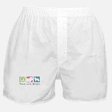 Peace, Love, Berners Boxer Shorts