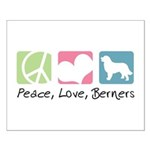 Peace, Love, Berners Small Poster
