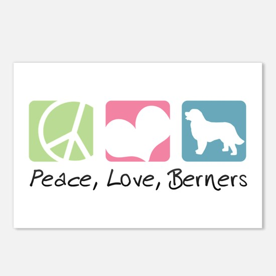 Peace, Love, Berners Postcards (Package of 8)