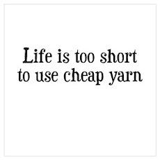 Cheap Yarn Poster