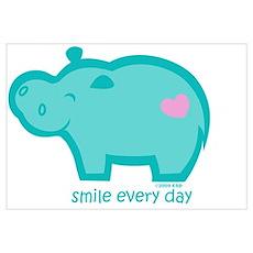 Smile Hippo Poster