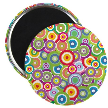Bright Vector Circles Magnet