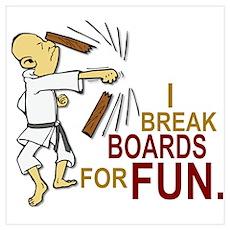 Funny Man Breaking Board 3 Poster