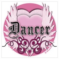 Dancer with Heart by DanceShirts.com Poster