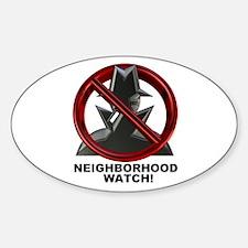 Neighborhood Watch Oval Decal