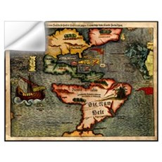 Map of the Americas Wall Decal