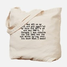 L33T Speak Tote Bag