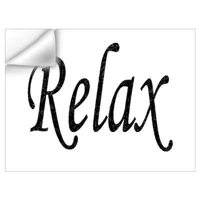 """Relax"" Wall Decal"