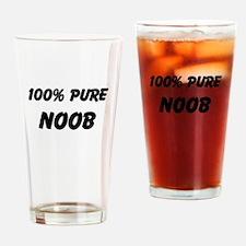 100% NOOB Drinking Glass