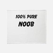 100% NOOB Throw Blanket
